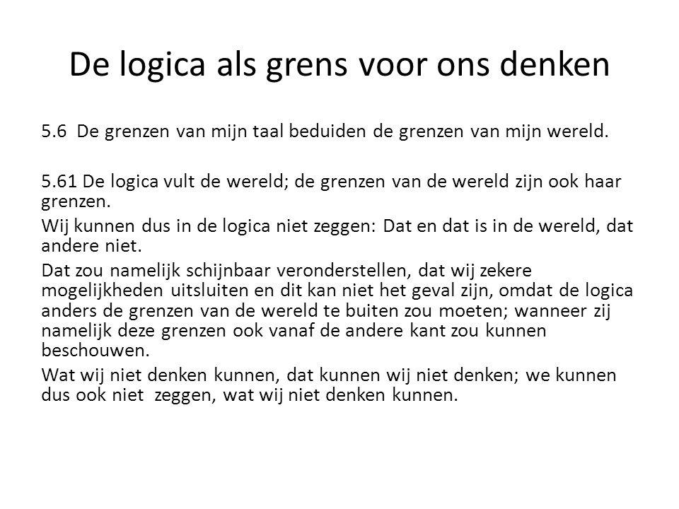 De logica als grens voor ons denken