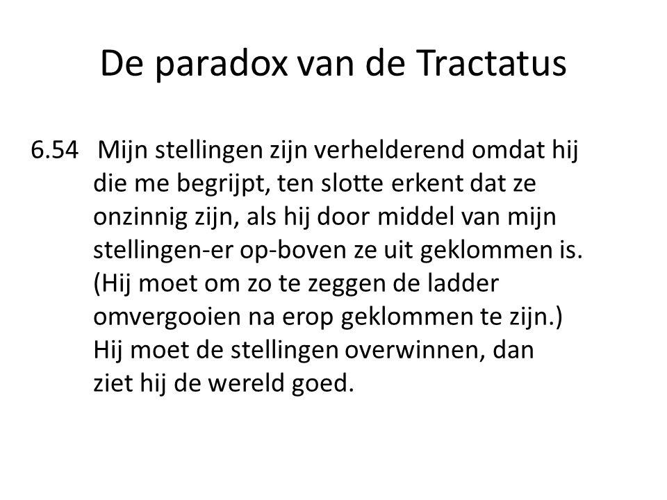 De paradox van de Tractatus