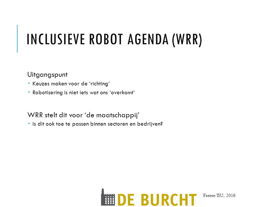 Inclusieve robot agenda (WRR)