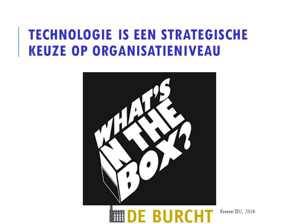 Technologie is een strategische keuze op organisatieniveau
