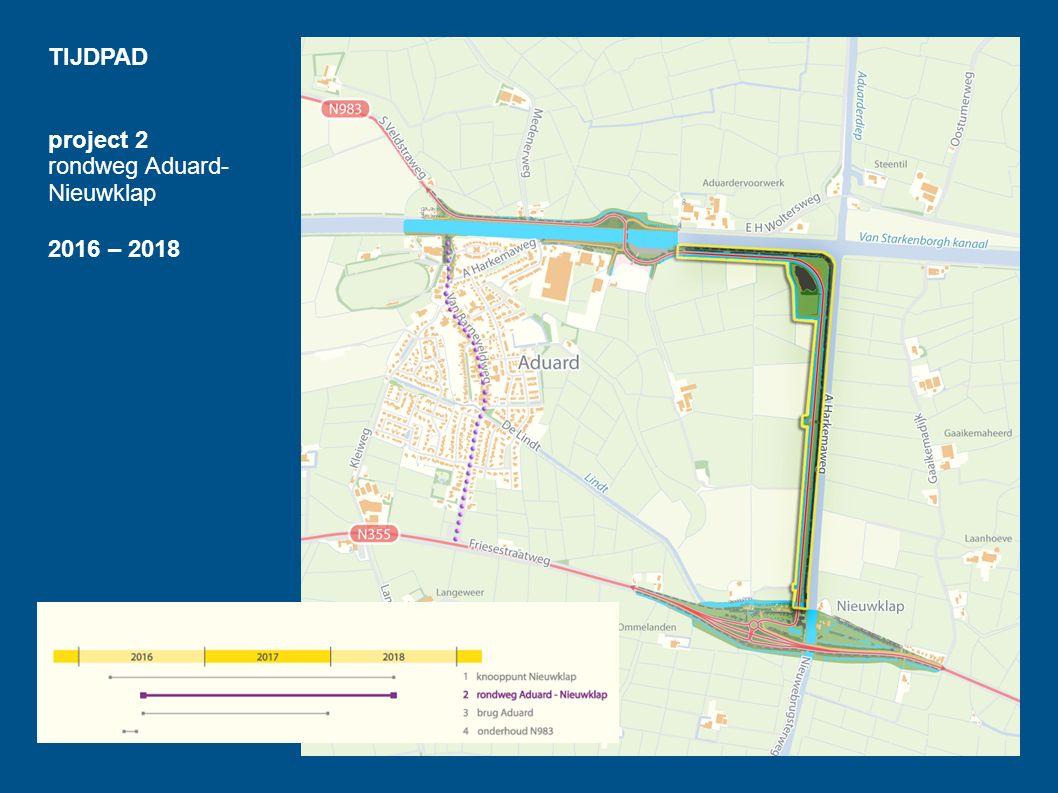 TIJDPAD project 2 rondweg Aduard-Nieuwklap 2016 – 2018