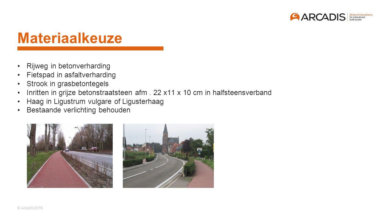 Materiaalkeuze Rijweg in betonverharding Fietspad in asfaltverharding