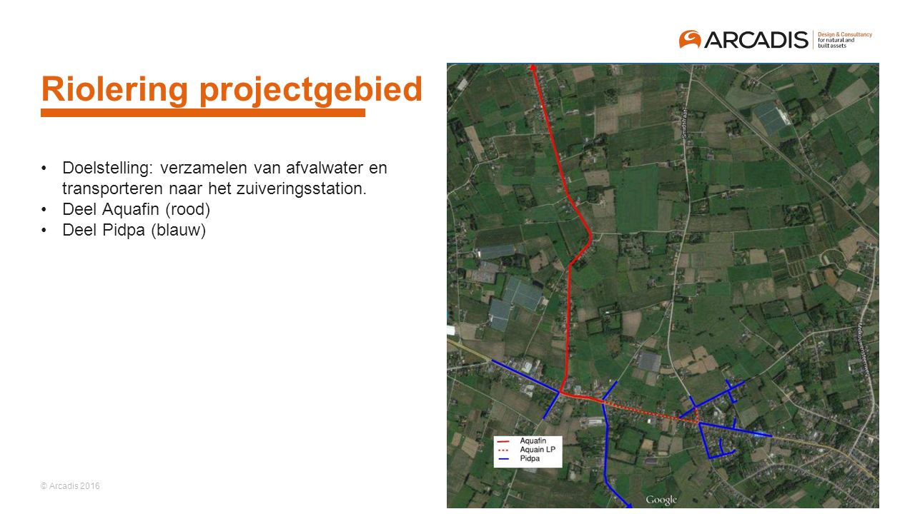 Riolering projectgebied