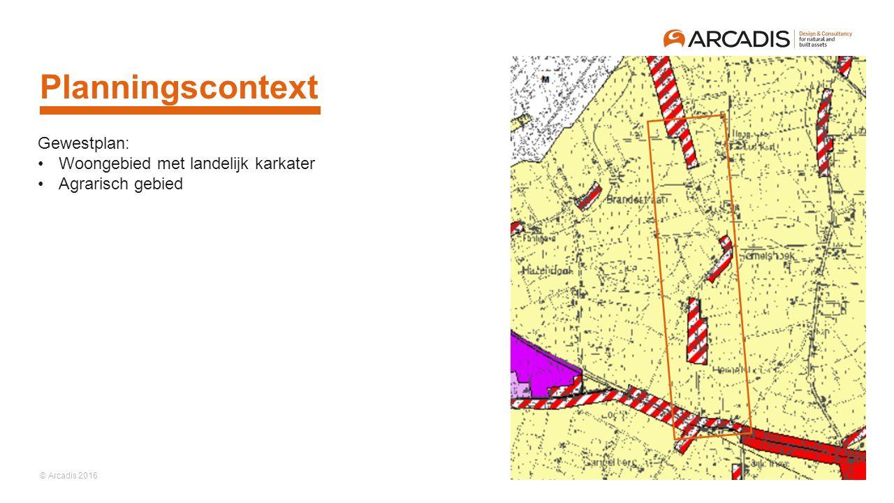 Planningscontext Gewestplan: Woongebied met landelijk karkater