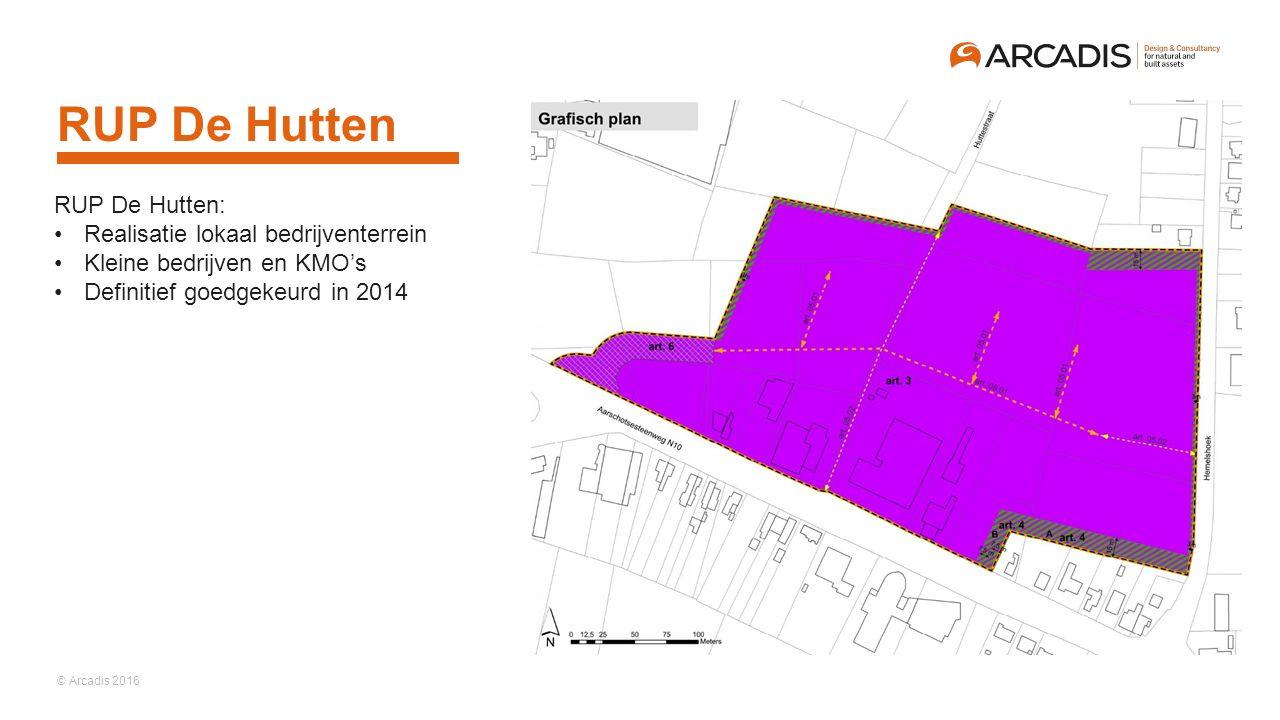 RUP De Hutten RUP De Hutten: Realisatie lokaal bedrijventerrein