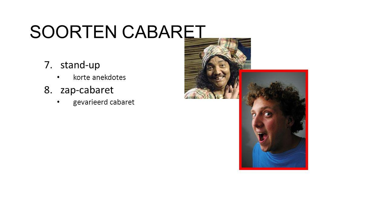 SOORTEN CABARET stand-up zap-cabaret korte anekdotes