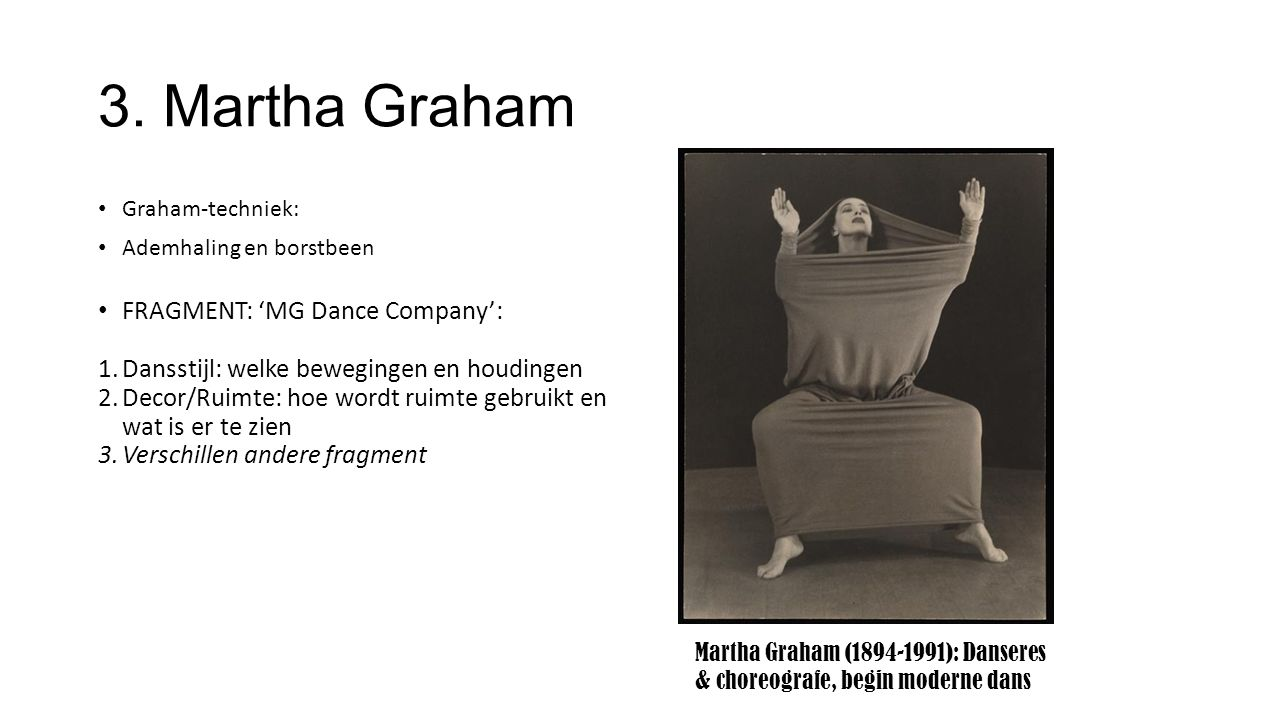 3. Martha Graham FRAGMENT: 'MG Dance Company':