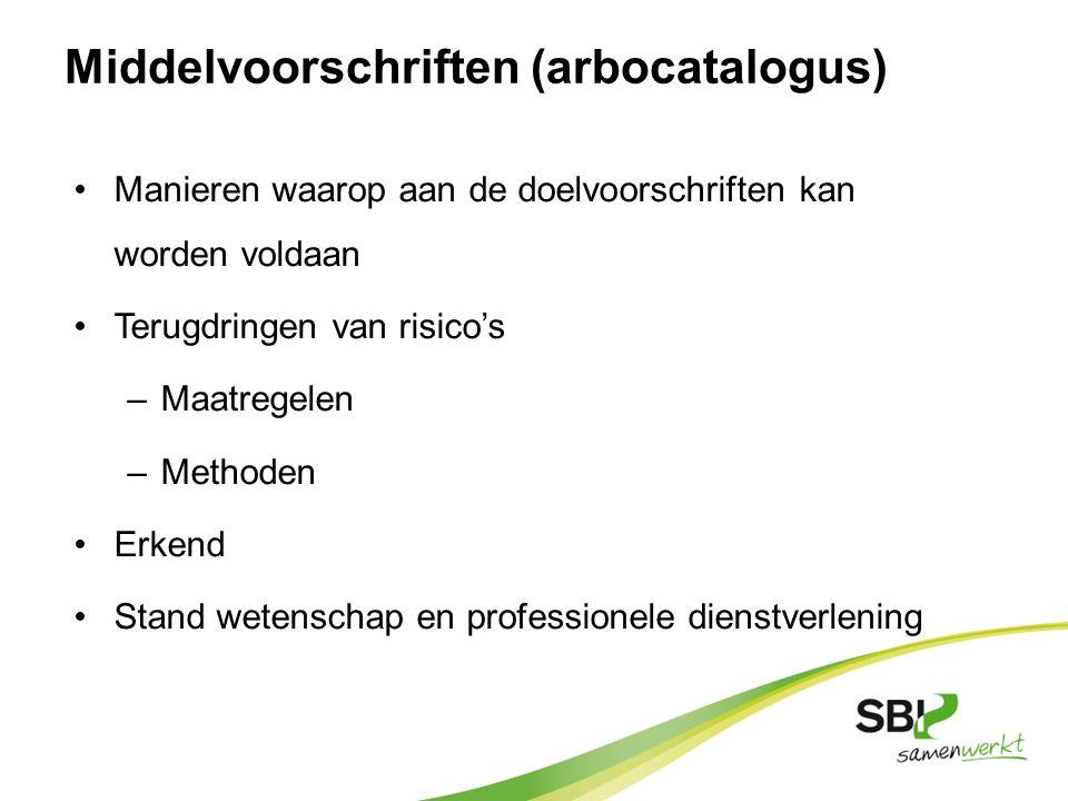 Middelvoorschriften (arbocatalogus)