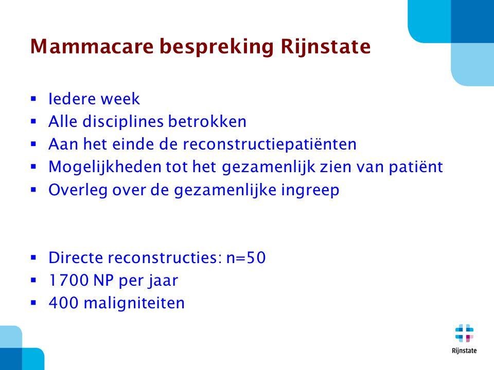 Mammacare bespreking Rijnstate