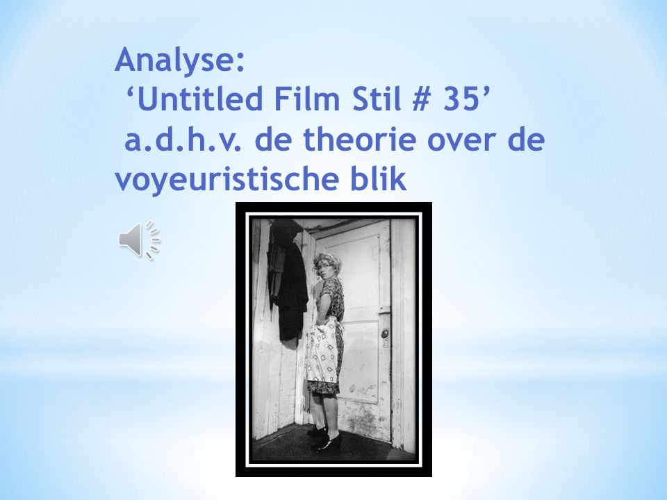 Analyse: 'Untitled Film Stil # 35' a. d. h. v