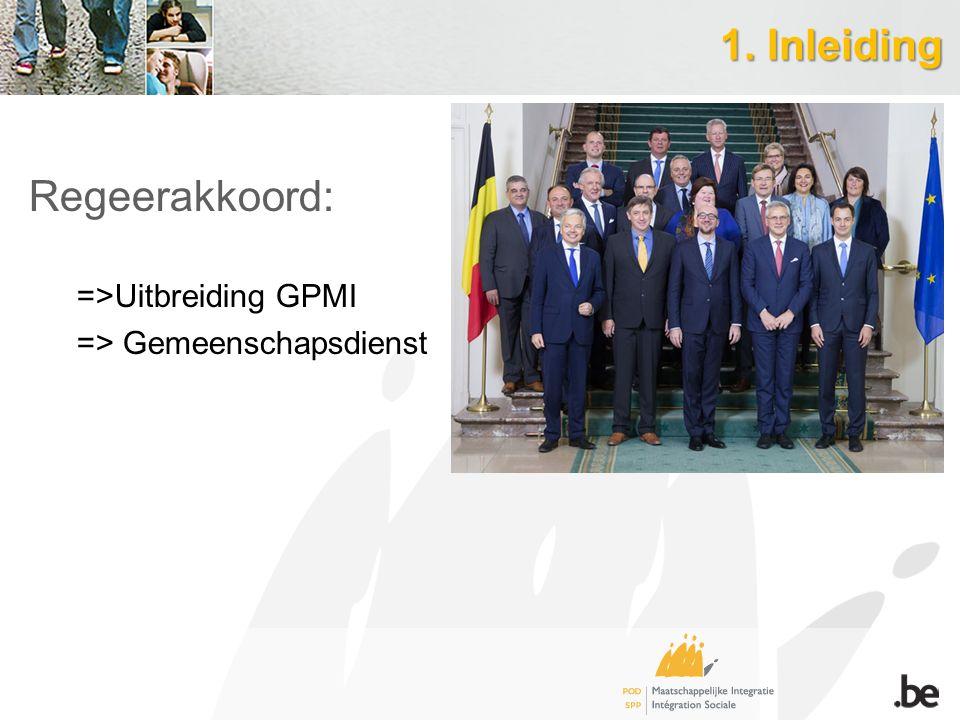 1. Inleiding Regeerakkoord: =>Uitbreiding GPMI