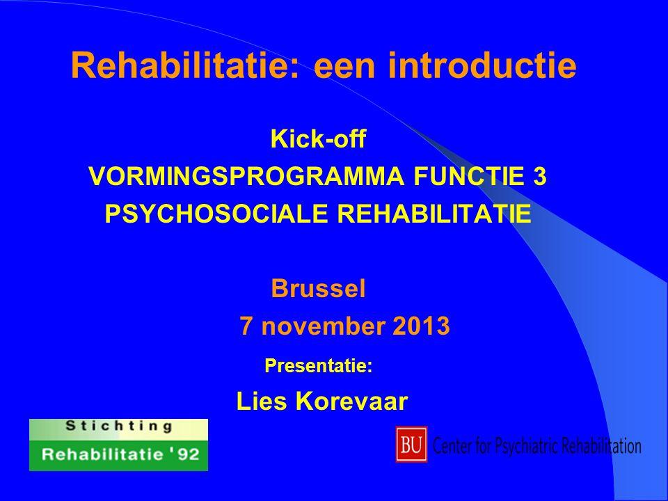 Rehabilitatie: een introductie