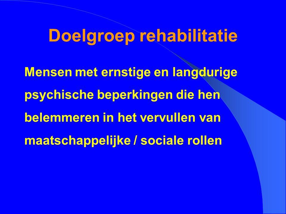 Doelgroep rehabilitatie