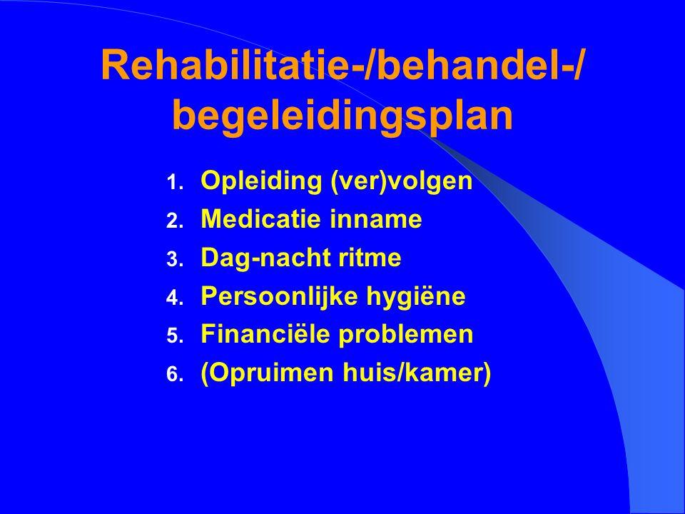 Rehabilitatie-/behandel-/ begeleidingsplan