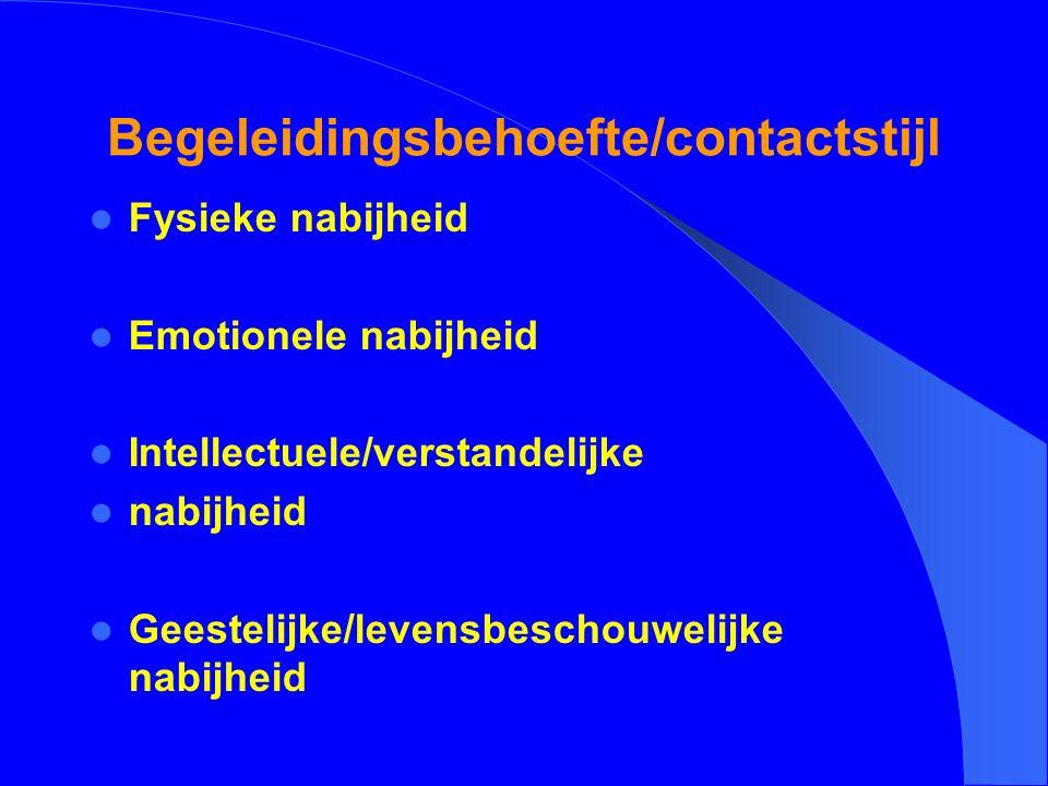 Begeleidingsbehoefte/contactstijl