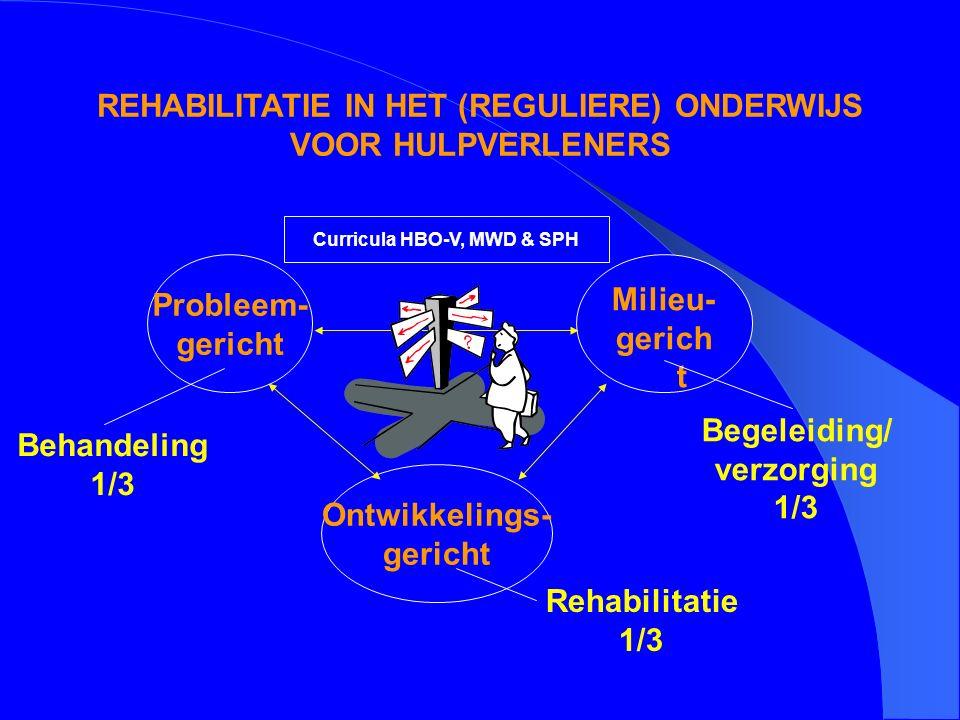 REHABILITATIE IN HET (REGULIERE) ONDERWIJS VOOR HULPVERLENERS