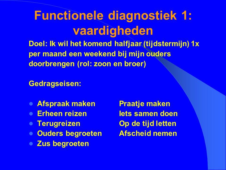 Functionele diagnostiek 1: vaardigheden
