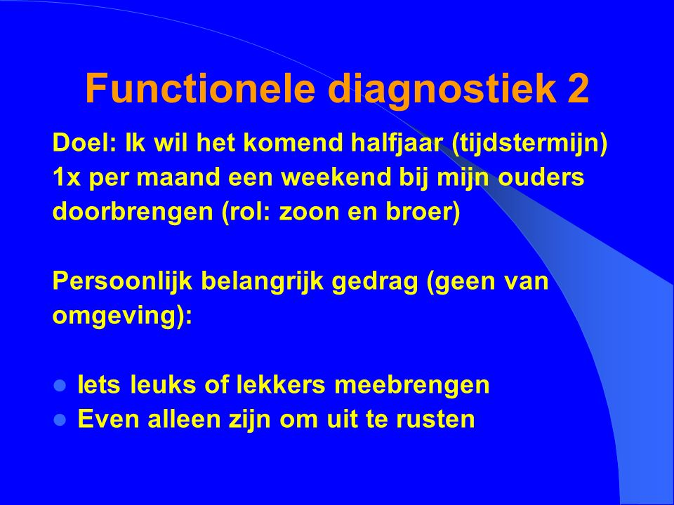 Functionele diagnostiek 2