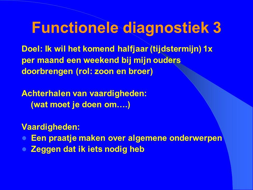 Functionele diagnostiek 3