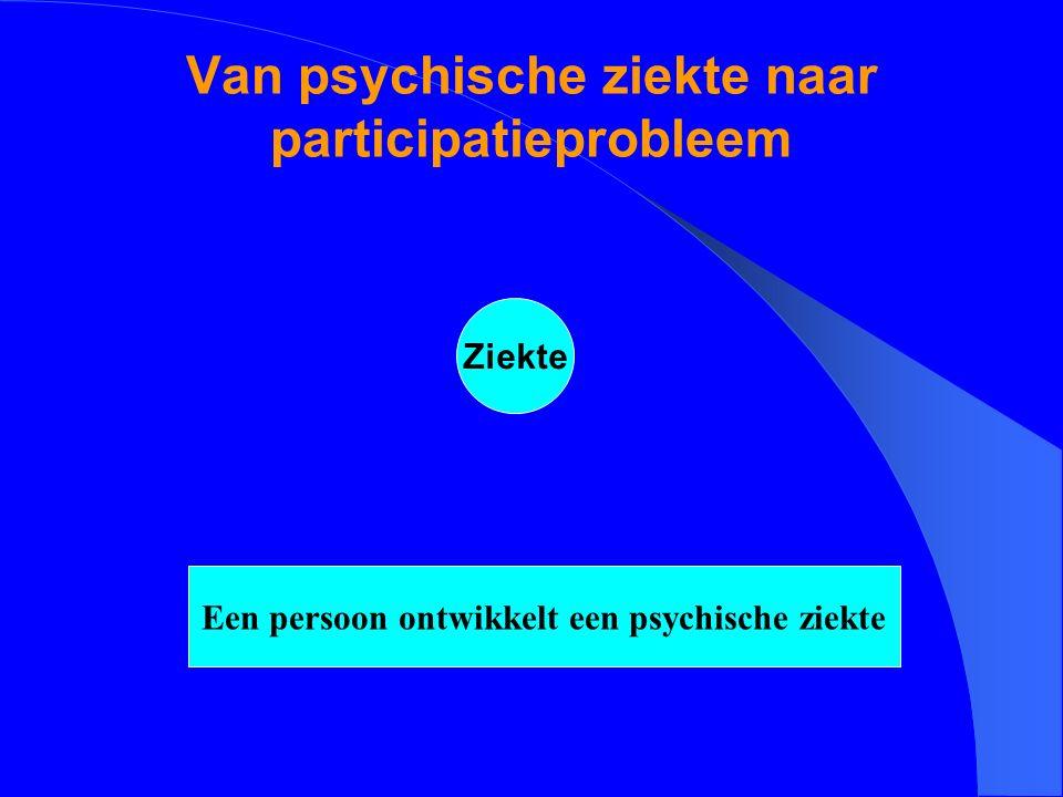Van psychische ziekte naar participatieprobleem