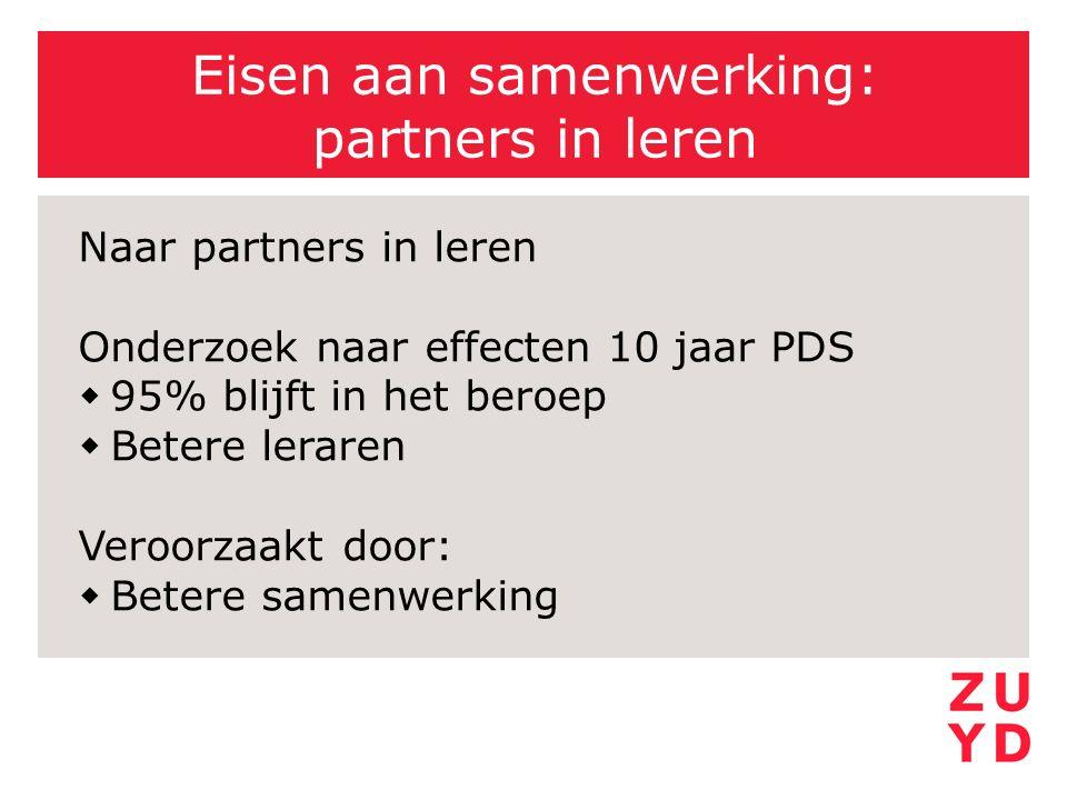 Eisen aan samenwerking: partners in leren