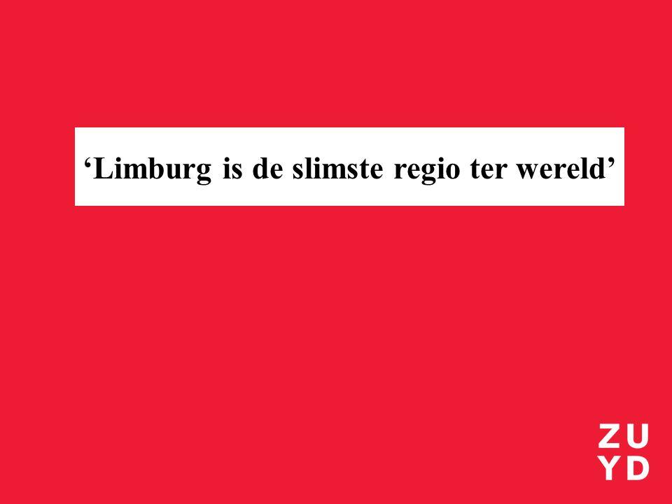 'Limburg is de slimste regio ter wereld'