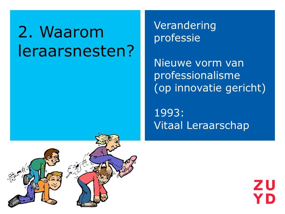 2. Waarom leraarsnesten Verandering professie