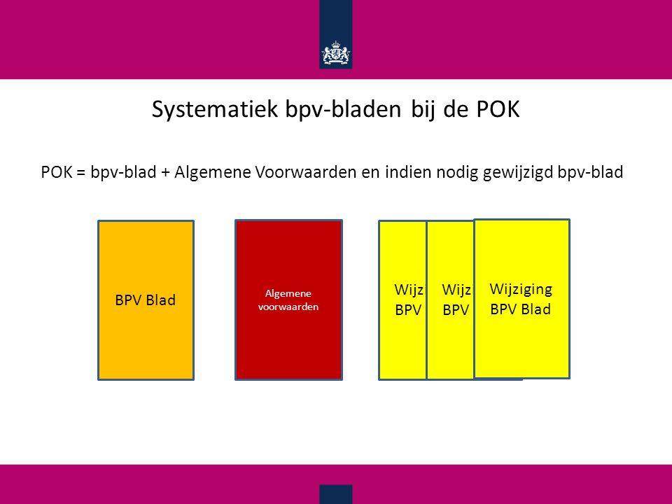 Systematiek bpv-bladen bij de POK