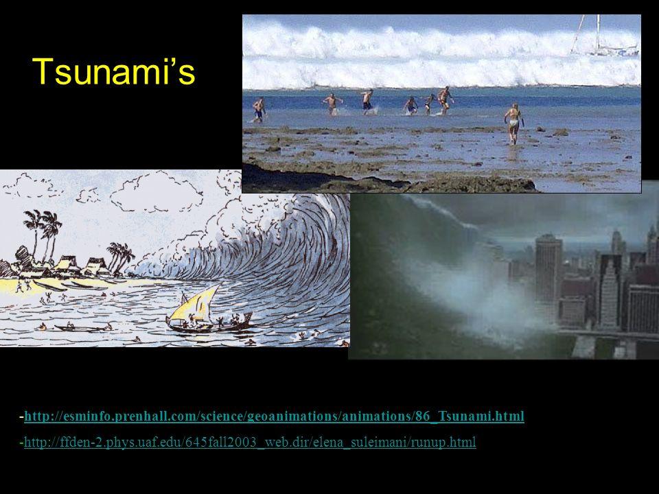 Tsunami's http://esminfo.prenhall.com/science/geoanimations/animations/86_Tsunami.html.