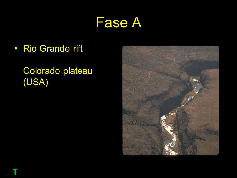 Fase A Rio Grande rift Colorado plateau (USA) T