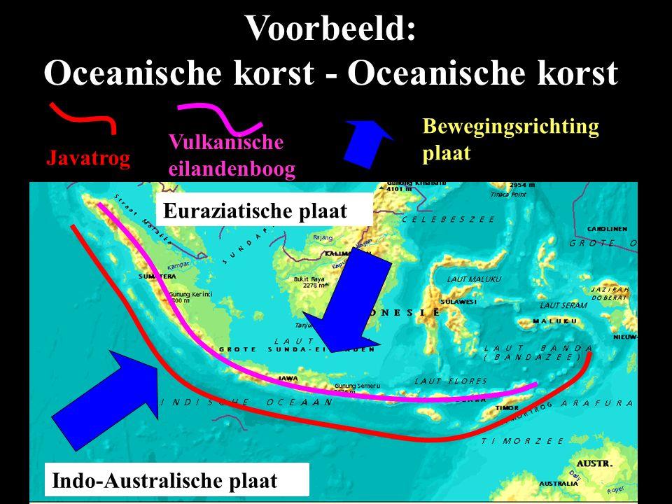 Voorbeeld: Oceanische korst - Oceanische korst