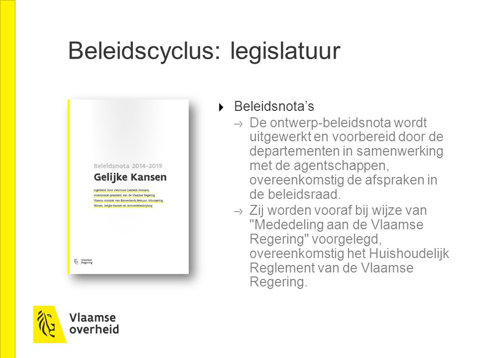 Beleidscyclus: legislatuur