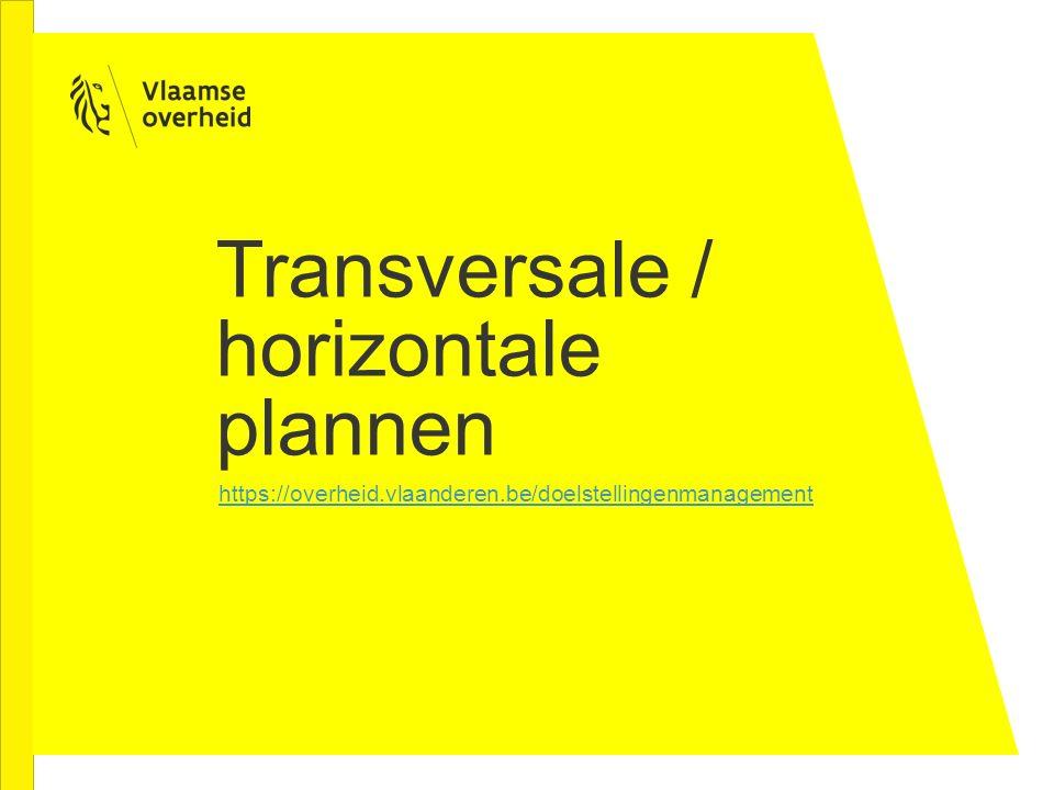Transversale / horizontale plannen
