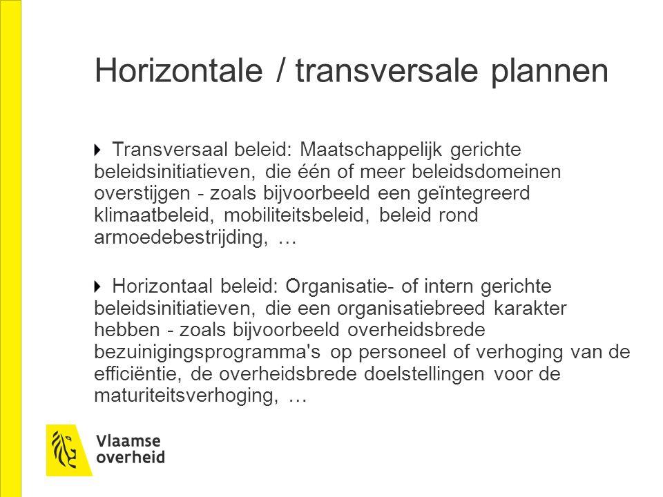 Horizontale / transversale plannen