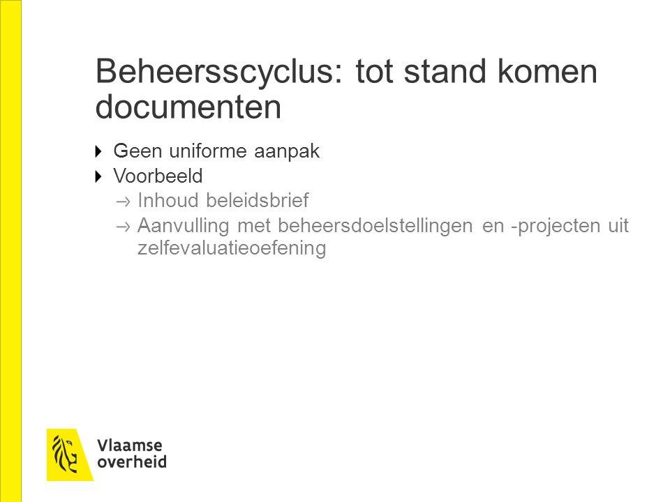 Beheersscyclus: tot stand komen documenten