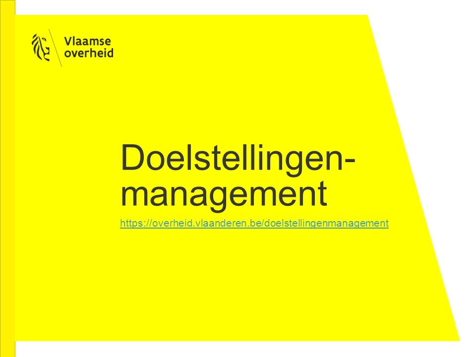 Doelstellingen-management