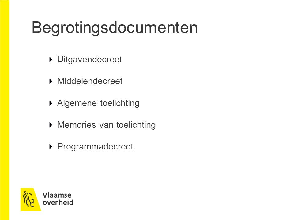 Begrotingsdocumenten