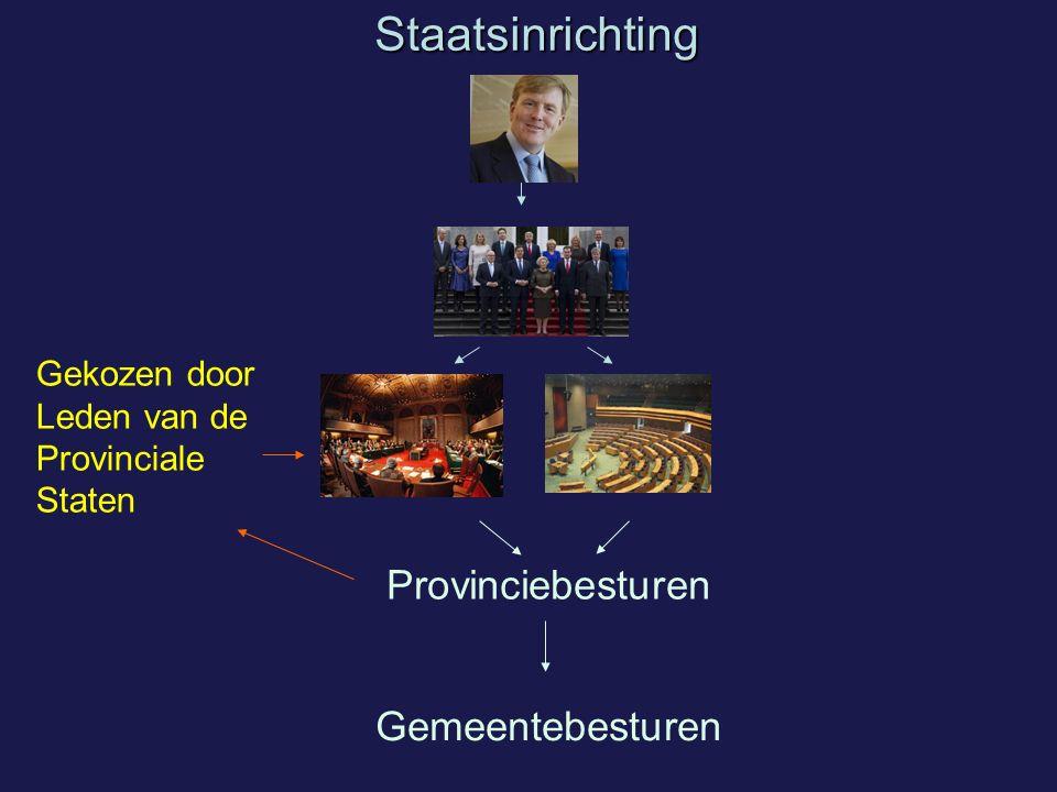Staatsinrichting Provinciebesturen Gemeentebesturen
