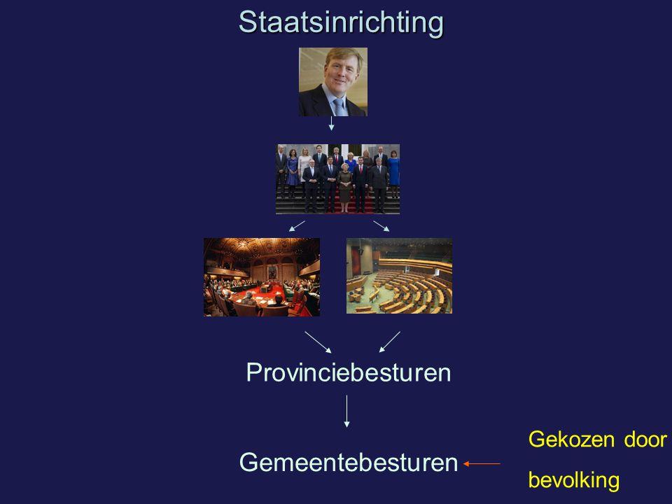 Staatsinrichting Provinciebesturen Gemeentebesturen Gekozen door
