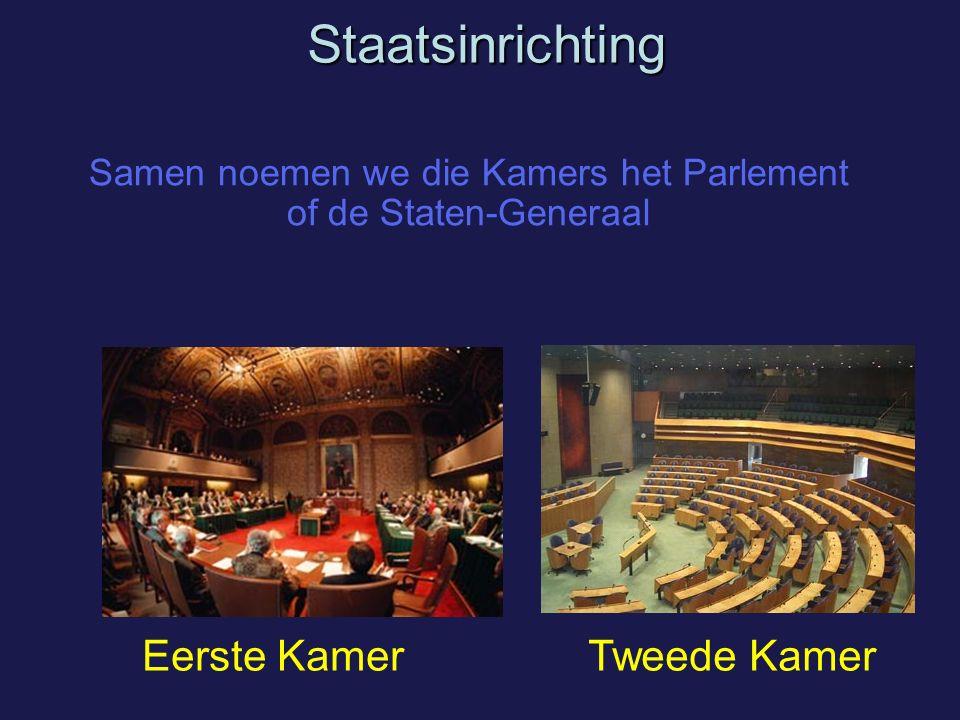 Samen noemen we die Kamers het Parlement of de Staten-Generaal