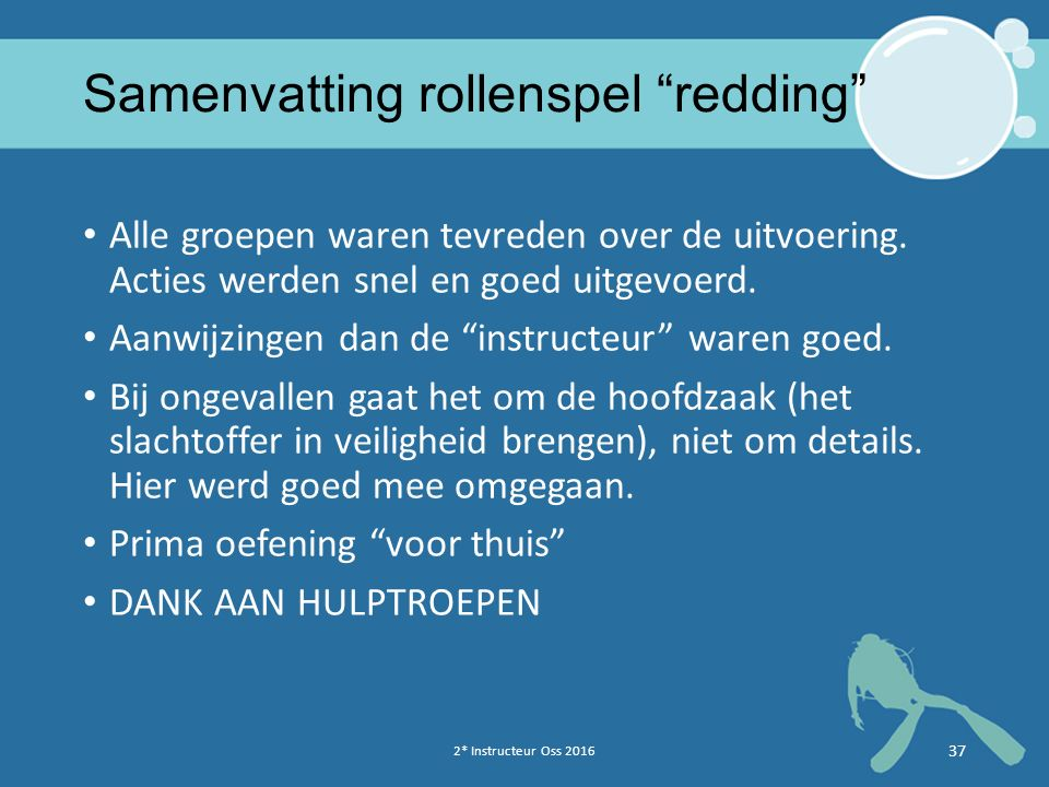Samenvatting rollenspel redding