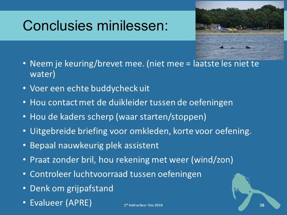 Conclusies minilessen: