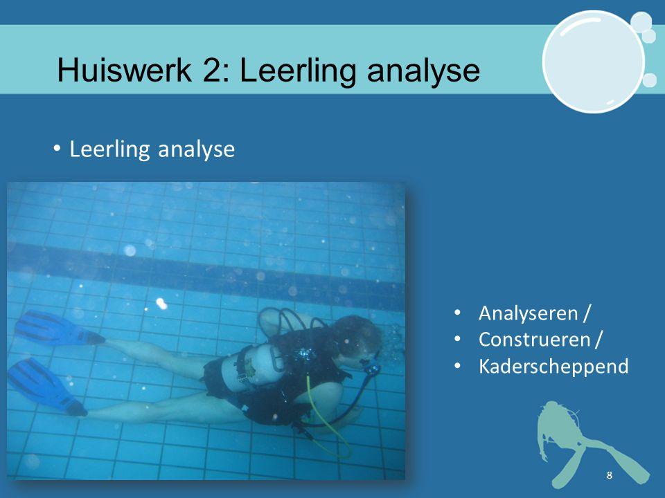 Huiswerk 2: Leerling analyse