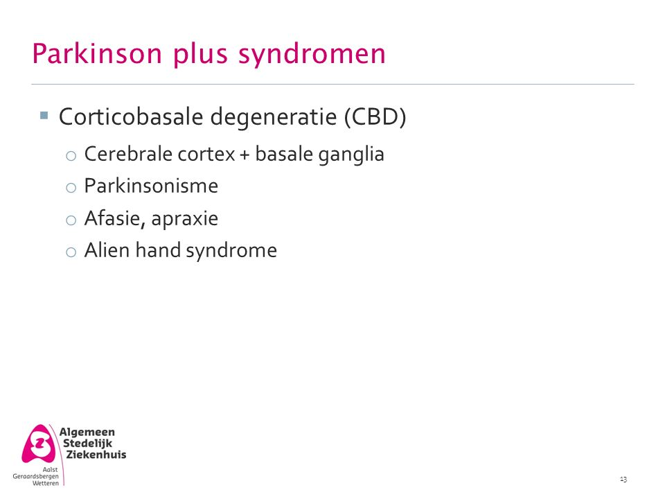 Parkinson plus syndromen