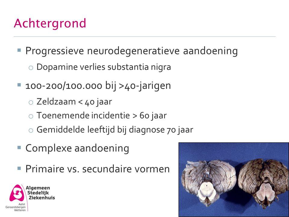 Achtergrond Progressieve neurodegeneratieve aandoening