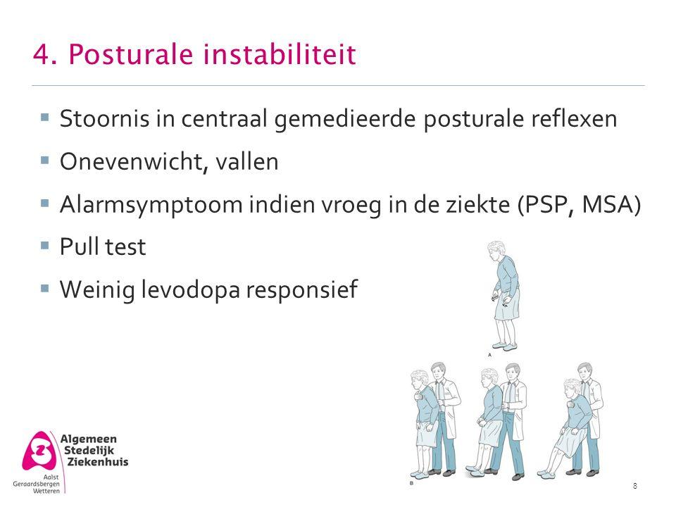 4. Posturale instabiliteit
