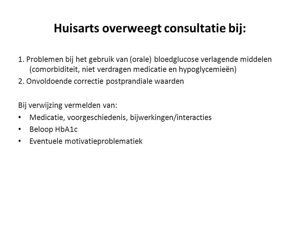 Huisarts overweegt consultatie bij: