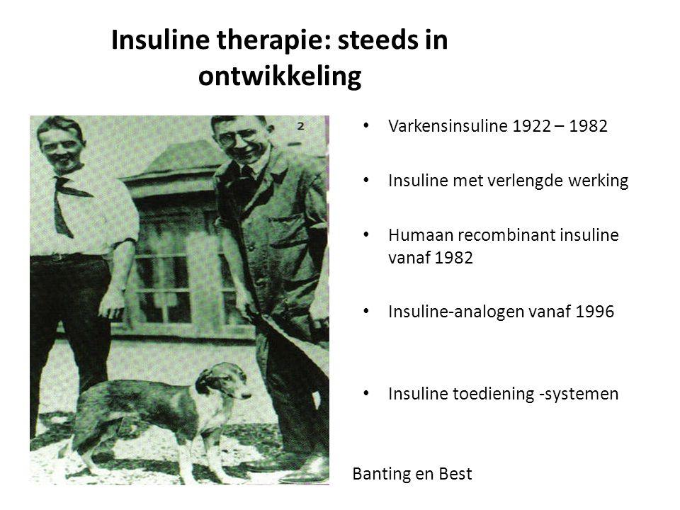 Insuline therapie: steeds in ontwikkeling