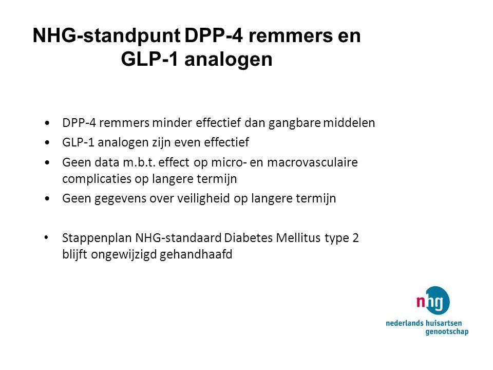 NHG-standpunt DPP-4 remmers en GLP-1 analogen