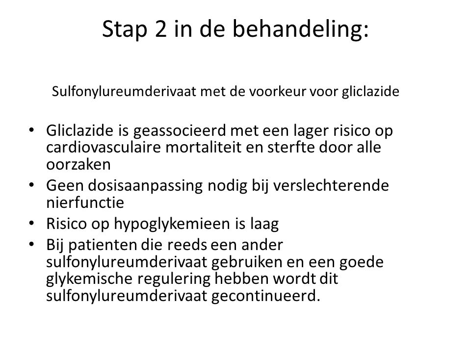 Stap 2 in de behandeling: